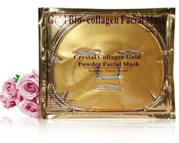 crystal collagen gold powder face mask NZ - 100pcs Gold Bio-Collagen Facial Mask Face Mask Crystal Gold Powder Moisturizing Anti-aging Collagen Facial Mask Free DHL