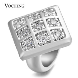 Jewelry stone material online shopping - VOCHENG Endless Charms CZ Stone Square Shape Colors Plating Copper Material Interchangeable Jewelry Fit Lambskin Bracelet VC