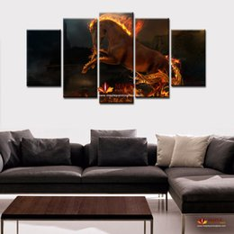 Paint Canvas Horses Canada - LIMITED EDITION FIRE HORSE PRINT ON CANVAS MODERN HOME WALL DECOR CANVAS PICTURE ARTHD PRINT PAINTING ON CANVAS ARTWORKS