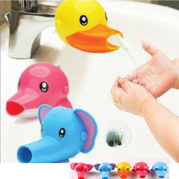 Duck accessories online shopping - Cartoon Animal Baby Kids Elephoant Dolphin Duck Water Tap Faucet Extender Washing Hands Accessories Styles HH T54