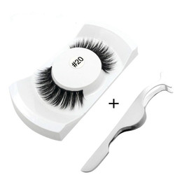 making kit UK - 5Pairs Natural False Eyelashes kits Makeup 3d Mink Lashes Eyelash Extension Make Up mink strip eye lashes + eyelashes Tweezers