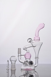 $enCountryForm.capitalKeyWord Canada - Recycler Bongs cute Glass Bongs a little pink glass hightimes Bong 14.4mm glass joint oil dab free shipping