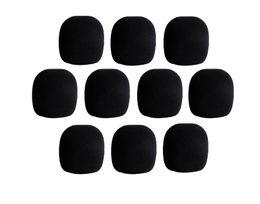 10 шт. черный микрофон пена крышка микрофон гриль лобовое стекло лобовое стекло для портативного микрофона