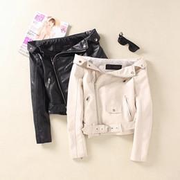 $enCountryForm.capitalKeyWord Canada - Wholesale- 2017 Spring Fashion women motorcycle slit neckline sexy slim strapless short design black leather clothing PU women jacket