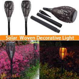 new solar power lawn light led nest woven decorative garden art warm lights for yard lawn 2pcs lot
