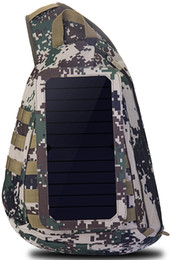 China Brand New Men's Solar Camouflage Sling Bag movable Solar Charger Plate Hot Sale Fashion Shoulder Bag Sturdy Brand Sports Bag for Outdoor suppliers