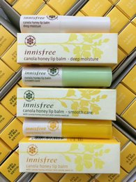 kinds lips UK - 48pcs famous brand innisfree canola honey lip balm smooth care deep moisture 3.5g 3 kinds styles Protect wet moist lips Care