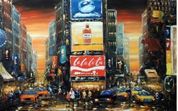 $enCountryForm.capitalKeyWord NZ - Framed Times Square Sunset New York City Manhattan Taxi Cab Lge. Pure Hand Painted Abstract Art Oil Painting On Canvas.Multi Sizes Available