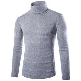 Wholesale men s knitted shirts for sale – oversize Men s Winter High Collar Knitting Shirts Mens Longline Hoodies Men Fleece Solid Sweatshirts Fashion Tall hoodie Extra Long