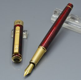 $enCountryForm.capitalKeyWord Canada - Unique design Picasso brand Wine red fountain pen with Gold clip school office stationery luxury writing lady gift ink pens