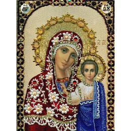 $enCountryForm.capitalKeyWord Canada - HWF-144 Top Fashion kind Mary and Jesus Diy Diamond Painting home decor Resin For Square Drill Rhinestone poster 30X40CM