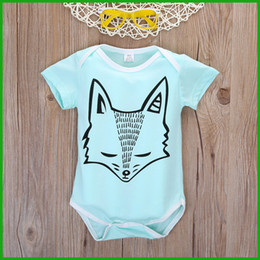 Patterns For Tutus Canada - fashion baby boys girls jumpsuits fox pattern green color bobysuit rompers outfit for inflant kids one-piece children free shipping