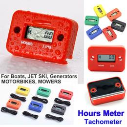 Discount digital tachometer hour meter - New Hour Meter Tachometer Digital LCD ATV Motorcycle Generator Bike Waterproof Hours Meter for Dirt Quad Bike jet ski bo