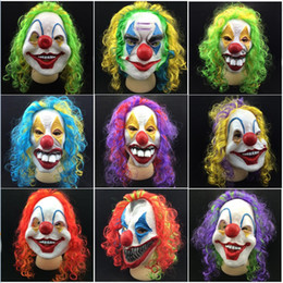 Discount free clown masks - Party Decoration Party Mask Halloween Scary Party Mask Latex Funny Clown Wry Face Scary Mask Free Shipping