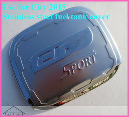 Gas Tank Caps Canada - Free shipping! High quality stainless steel fuel tank cover gas tank cover oil tank cap For Honda CITY 2015