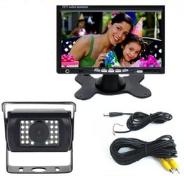 Wholesale 12 V Car Parking System Truck Bus Rear View Camera With quot TFT LCD Monitor and M RAC Cable