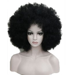 China Afro Jumbo Festival Fans Wig clown Costume Halloween Dress Up party Wigs Synthetic Hair COLOUR CHOICES cheap afro costume suppliers