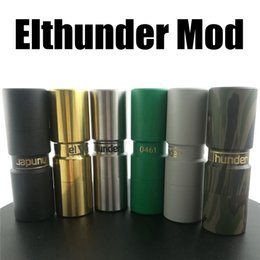 Vaporizer Elthunder Mod 6 Colors E Cigarette fit 18650 Battery with 510 thread VAPE RDA RDTA Go beyond Seiko Mech Mod Free Shipping