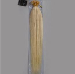 "32 Hair NZ - #22 Wholesale Indian 18""-32"" Women Remy Keratin Nail Tip U tip Human Hair Extensions Straight 1g s 100s Platinum Blonde #6018"