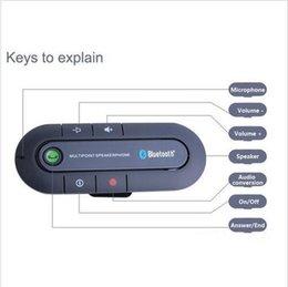 car cell phone handsfree 2019 - Car Bluetooth Multipoint Wireless Handsfree Speakerphone Cell Phone Bluetooth Hands Free v4.1 Car Kit DHL FREE SHIPPING
