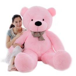 $enCountryForm.capitalKeyWord NZ - Brand New Valentines Gifts Birthday Gift 140cm 5Colors Giant teddy bear plush toys large soft toys
