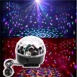 Magic Crystal Balls Canada - High Quality Mini RGB LED Crystal Magic Ball Stage Effect Lighting Lamp Party Disco Club DJ Light Show US Plug