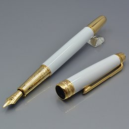 $enCountryForm.capitalKeyWord NZ - High Quality 163 white metal ballpoint pen   Roller ball pen   Fountain pen with star office stationery luxury Writing ink pens Gift