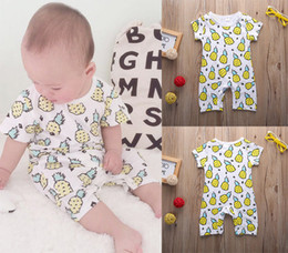 christmas rompers Australia - hot sale baby boys girls rompers New Newborn Kids casual Outfits o-neck cotton Jumpsuit pineapple logo printed Bodysuit children Clothing