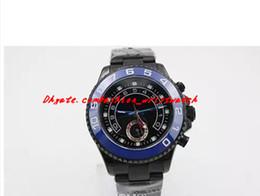 $enCountryForm.capitalKeyWord NZ - Fashion NEW Regatta Black DLC Stealth PVD 44mm 116680 Blue Stainlesr Pointer Automatic Mechanical Men Watches Top Quality Luxury Wristwatch