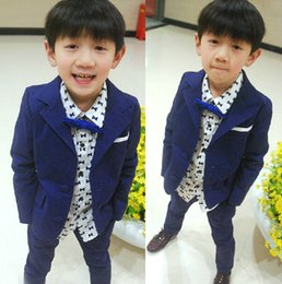 $enCountryForm.capitalKeyWord NZ - Children suit boys spring and summer new fashion children's small suit handsome boy suit 2 pieces of jacket + pants custom made