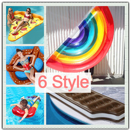 Jouets De Natation En Gros Pas Cher-INS HOT Poussin gonflable Rainbow Pains Giant Pool Party Femmes Hommes Natation Ring Float Vacances Hippy Beach Water Adulte Jouet Air Literie Vente en gros