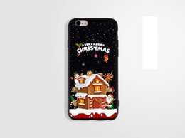 Green protector online shopping - For apple iphone plus iphone S TPU box cartoon Santa Merry Christmas gift Christmas tree black cell phone cases protector