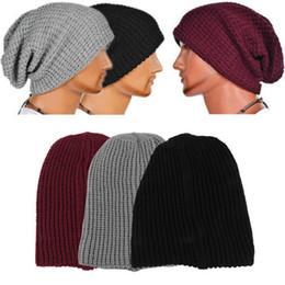 $enCountryForm.capitalKeyWord Canada - Hot Selling Chic Men Women Warm Skullies Winter Knit Ski Beanies Skull Bandana Slouchy Oversized Cap Sport Hat Unisex Bonnet