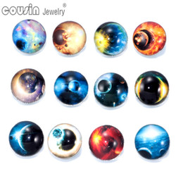 $enCountryForm.capitalKeyWord Canada - 12pcs lot Mixed Colors Universe 18mm snap button Jewelry Faceted glass Snap Fit snap Bracelet Jewelry KZ0184