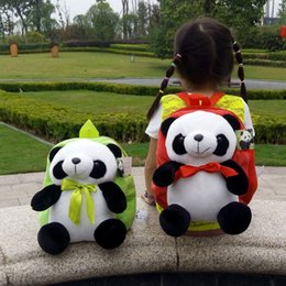 Discount stuffed animal panda - New Stuffed Animals Panda Cartoon Plush Toys Backpack Kids Gift 6 Colors Option