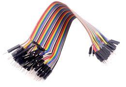 Discount dupont wire male - Wholesale-40pcs dupont cable jumper wire dupont line Male to Male dupont line 20cm 1P 40P free shipping
