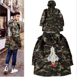 $enCountryForm.capitalKeyWord Canada - Wholesale- 2016 Camouflage Rocket Jacket Men Women Kanye Brand Justin Bieber Trench Coats Men Patchwork Windbreaker Men Jackets S-XXL