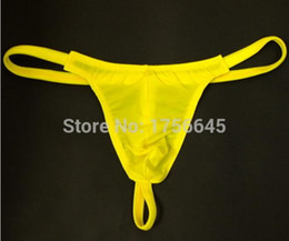 5a8cfcf2bc0a Wholesale - New Wholesale-HOT SEXY men's ice silk transparent mini micro  bikini penis pouch thongs g strings tangas panties low waist mens g