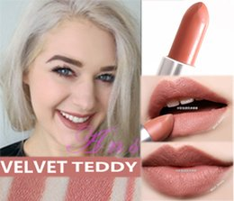lipstick brands names NZ - Brand Long Lasting Smooth Lipstick RUBY WOO CHILI VELVET TEDDY HONEYLOVE KINDA Frost Retro Matte Lipstick 3g with english name 18 colors