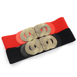 wide waist belt red Canada - New women's wide belt decoration elastic elastic female super wide waist strap wholesale all-match simple