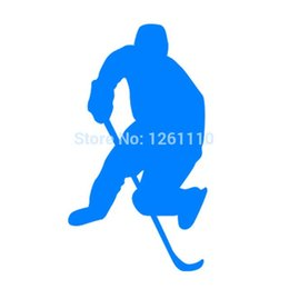 Wholesale 20pcs lot Home Decorations Automobile and Motorcycle Vinyl Decal Car Glass window Stickers Jdm Ice Hockey Skate Sports