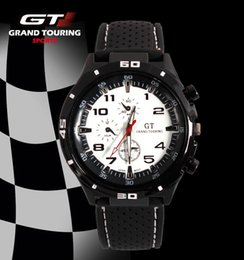 $enCountryForm.capitalKeyWord UK - 2016 Fashion F1 Racing Sport Quartz Luxury GT Watches for Men with Silicone Strap Military Army Wristwatches 12 Colors