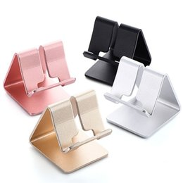 Wholesale Universal Aluminum Metal Mobile Phone Tablet Desk Holder Stand For iPhone Xiaomi For Samsung For iPad Charger Desk Stand