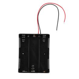 Neue 16850 Batterie Fall Aufbewahrungsbox Fall Kunststoff Halter mit Draht führt für 3 x 18650 Batterien Löten Connecting Black Großhandel