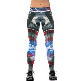 China Big Size Cheap Sports Leggings for Women High Waist 3D Printing Geometric Fitness Slim Knitted Fashion Yoga Long Pants Autumn Active Punk cheap red yoga pants for women suppliers
