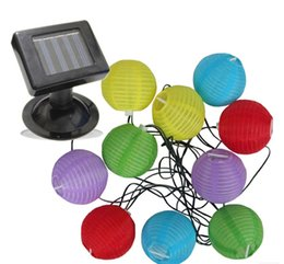 chinese lantern style led solar powered lamp string lighting for outdoor garden festival holiday parties - Solar Powered Lanterns