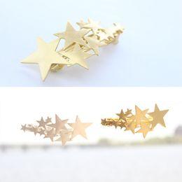 Großhandel Haarspangen Haarnadeln Haarspangen Clip für Frauen Mädchen Haarschmuck Kopfbedeckungen Halter Brötchen Knall kreative goldene Splitter Stern