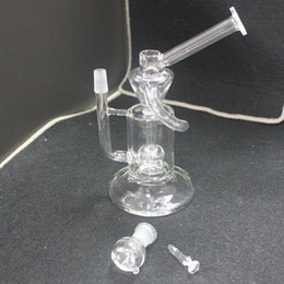 $enCountryForm.capitalKeyWord Australia - 8.7 inch Glass Recycler Amazing double recycler glass bong with honeycomb perc inside double use bongs water pipes percolator 14.4mm