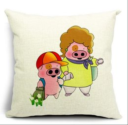 $enCountryForm.capitalKeyWord Canada - Son and Mom cartoon Mc the pig Dull pillows emoji fiber euro case cover home decor enhance elegant kids best gift pets childhood