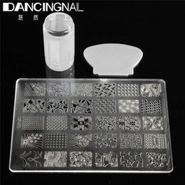 Barato Kits De Manicure Diy-Atacado- 1 Set DIY Nail Art Stamping Stamper Scraper Transfer With Template Manicure Tool Set De alta qualidade Fashion Nails Arts Tools